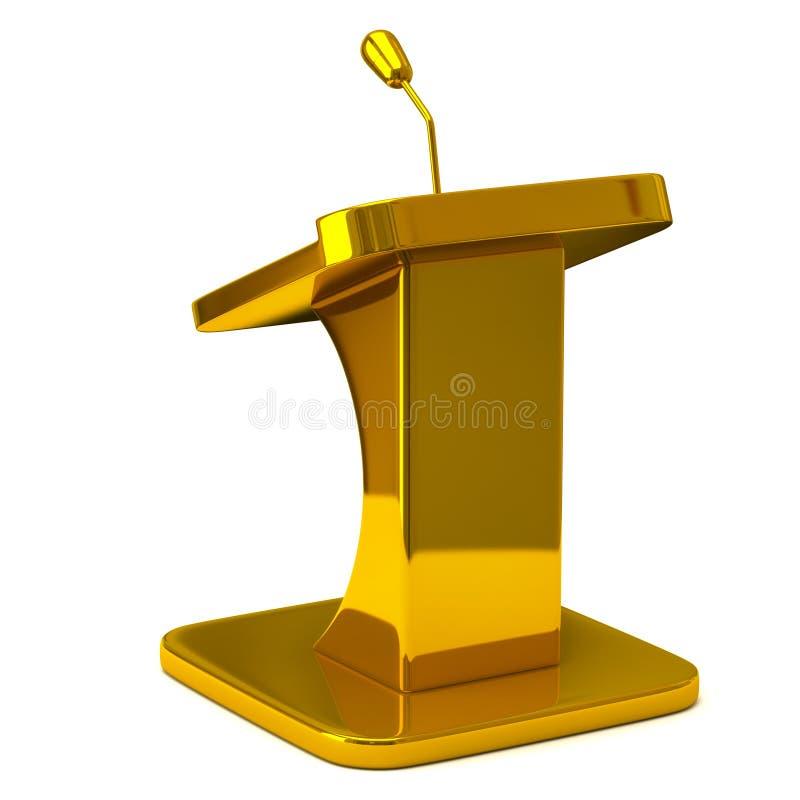 Tribuna dourada ilustração do vetor