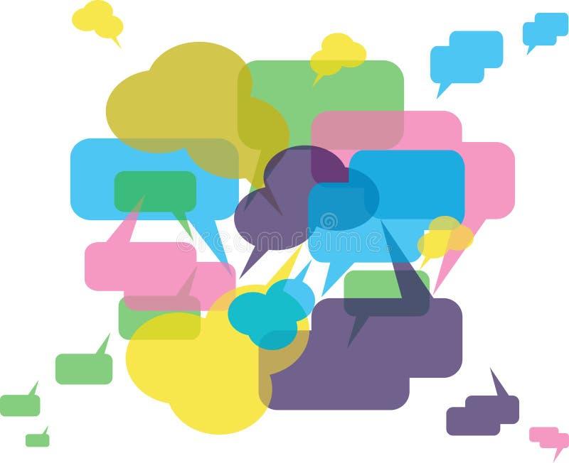 Tribuna o chiacchierata: priorità bassa illustrazione vettoriale