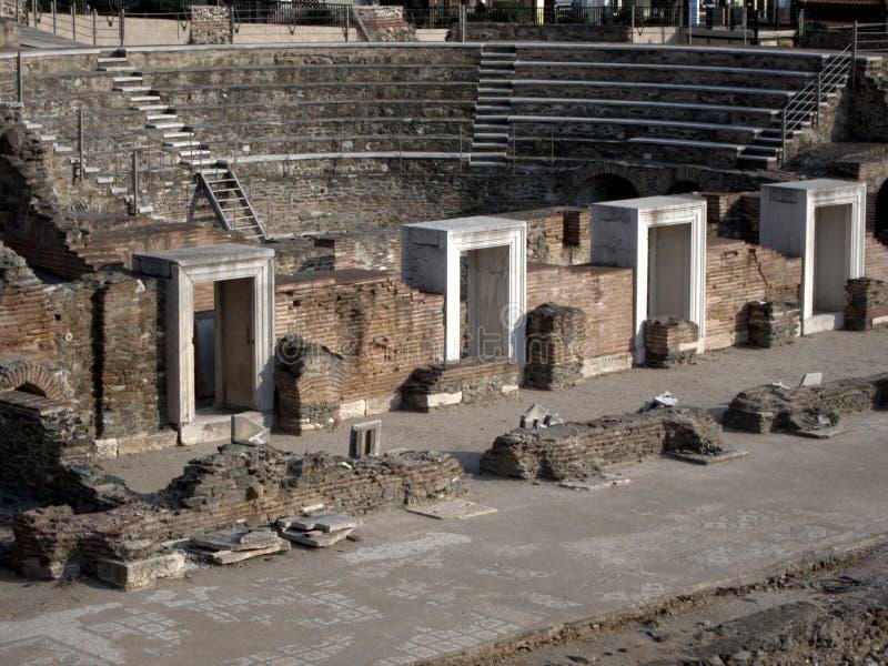 Tribuna romana antica in Grecia immagini stock libere da diritti