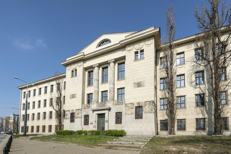 Tribunal d'arrondissement pour le ? W de Varsovie Mokot? ? Varsovie photographie stock