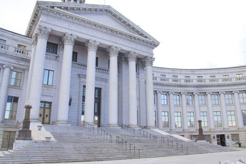 Tribunal da cidade e de condado imagens de stock