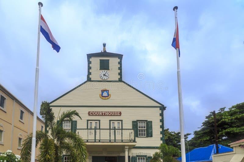 Tribunal dans Philipsburg, St Maarten image libre de droits