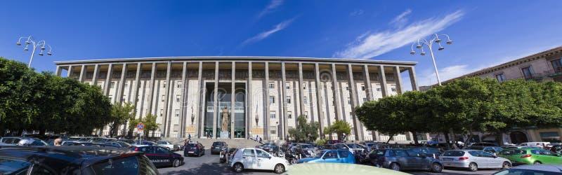 Tribunal de Catania de Italia fotografía de archivo libre de regalías