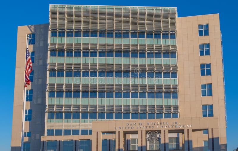 Tribunal de distrito de Estados Unidos en Gulfport Mississippi imagen de archivo libre de regalías