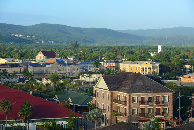 Tribunal de Falmouth et église, Jamaïque photos libres de droits
