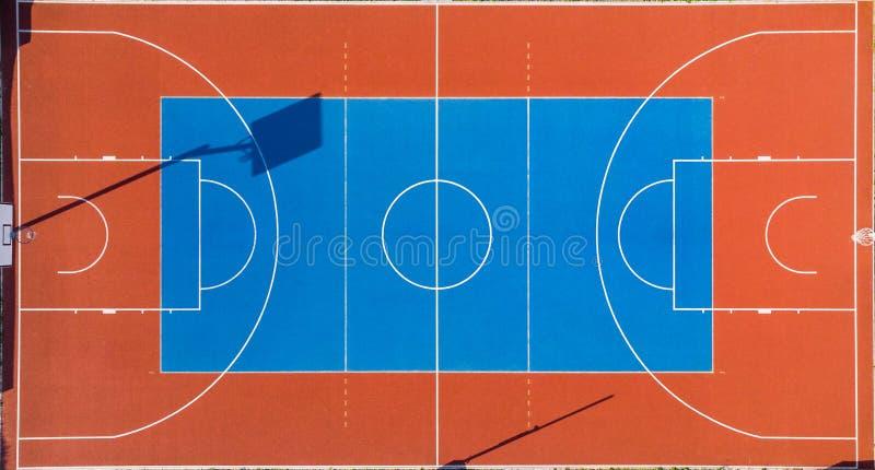 Tribunal de Futebol Colorido, Vista Aérea imagens de stock royalty free
