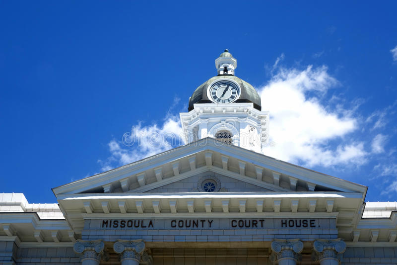 Tribunal de Missoula County - Montana fotos de stock