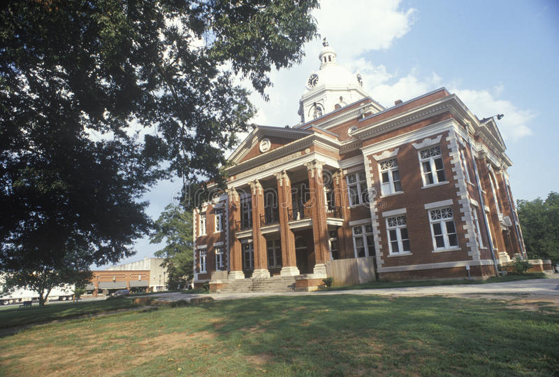 Tribunal del condado, Eatonton, GA fotos de archivo