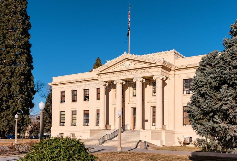 Tribunal du comté d'Inyo, la Californie photographie stock libre de droits