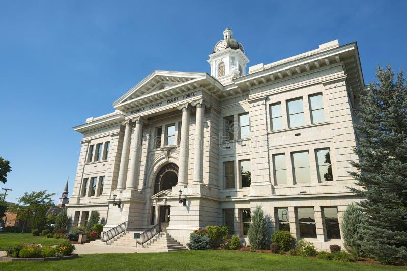 Tribunal du comté dans Missoula, Montana Front Right image libre de droits