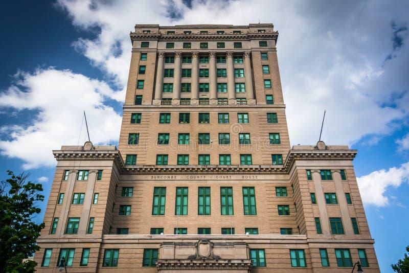 Tribunal du comté de Buncombe à Asheville, la Caroline du Nord image libre de droits