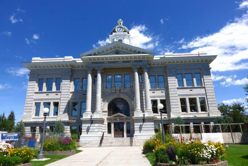 Tribunal du comté de Missoula - Montana image stock