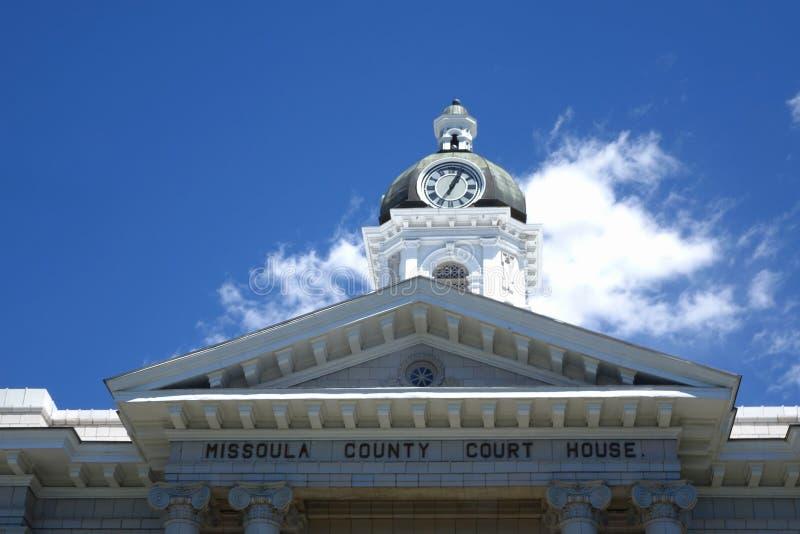 Tribunal du comté de Missoula - Montana photographie stock