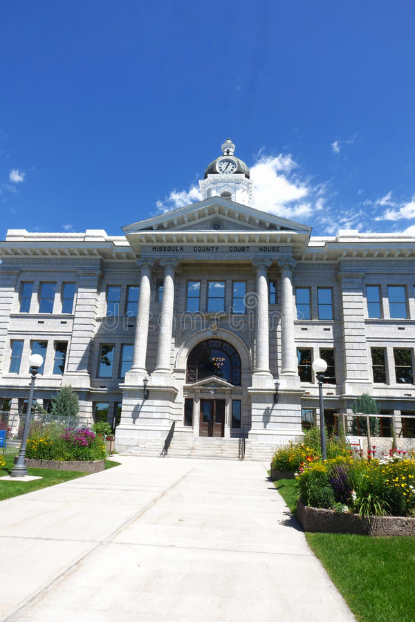 Tribunal du comté de Missoula - Montana images libres de droits