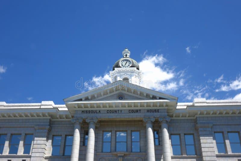 Tribunal du comté de Missoula - Montana images stock
