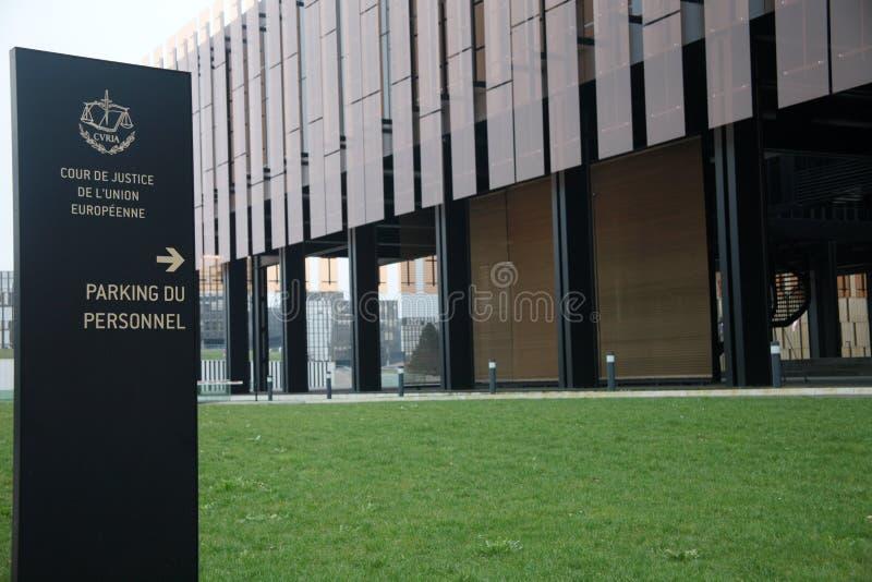 Tribunal Europeo de la justicia foto de archivo libre de regalías