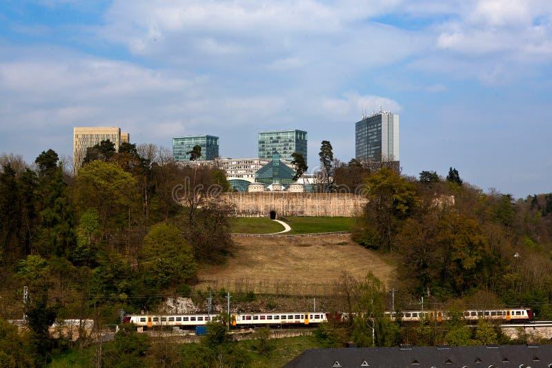 Tribunal Europeo de los edificios de la justicia, Luxemburgo fotografía de archivo libre de regalías
