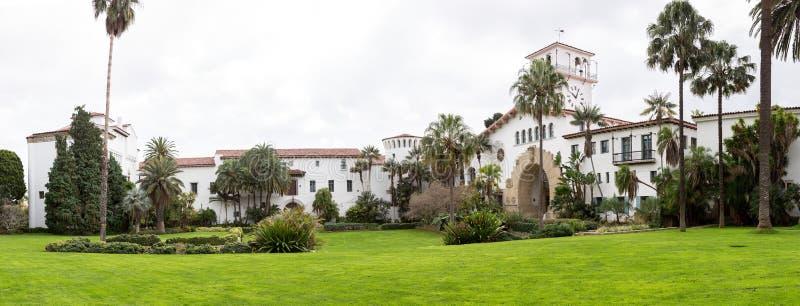 Tribunal exterior California de Santa Barbara imagen de archivo libre de regalías