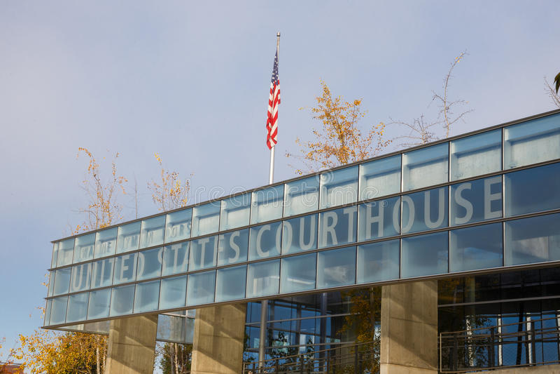 Tribunal federal Eugene Oregon foto de archivo libre de regalías