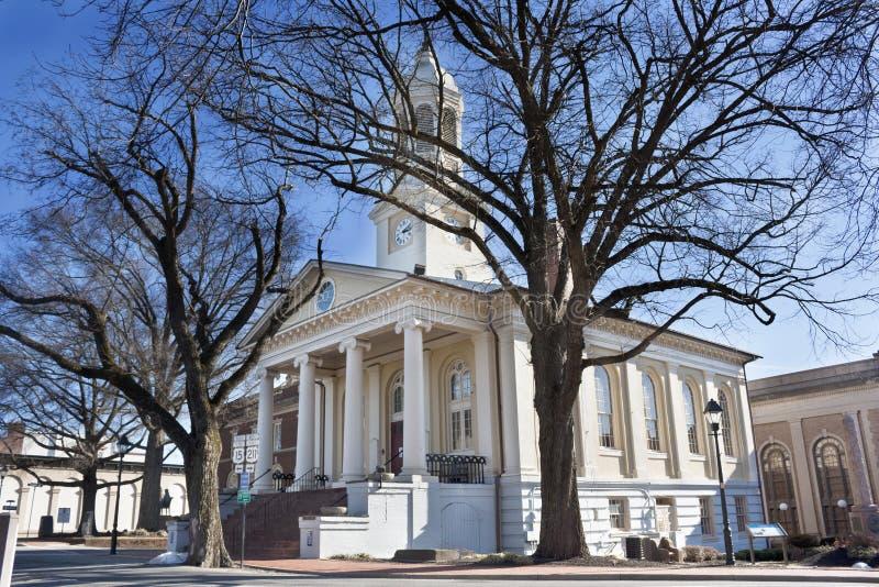 Tribunal histórico en la ciudad vieja, Warrenton, Virginia imagen de archivo