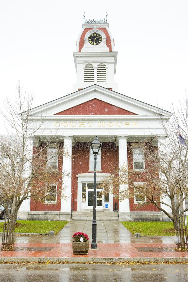 tribunal, Montpelier, Vermont, EUA fotos de stock