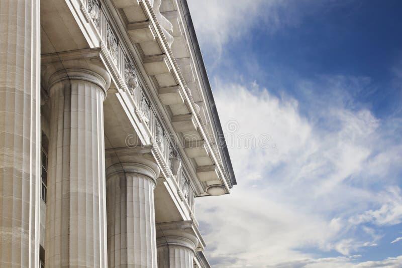 Tribunal ou construção do governo fotografia de stock royalty free