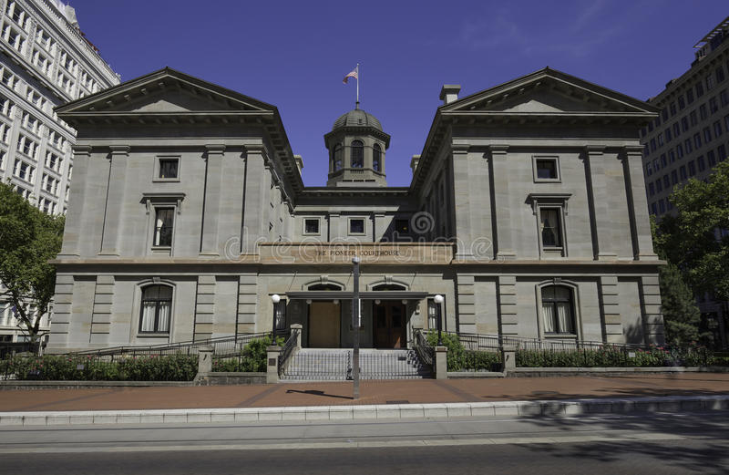 Tribunal pionnier, Portland, Orégon, Etats-Unis 7/5/2015 photo libre de droits