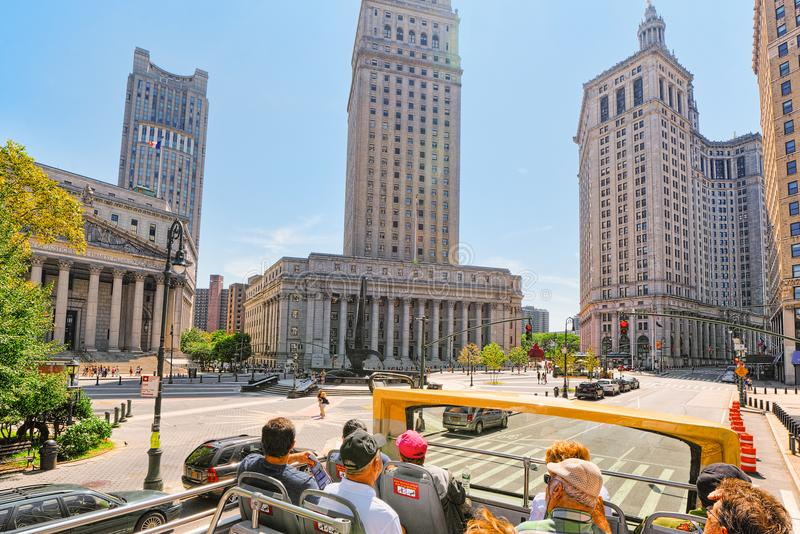 Tribunal Supremo del condado de Nueva York y tribunal de apelación de Estados Unidos foto de archivo