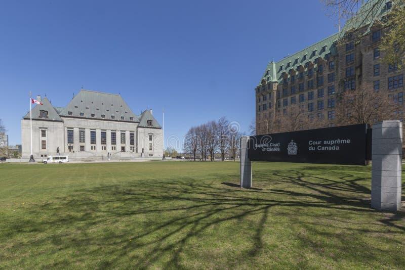 Tribunal Supremo del edificio de Canadá fotos de archivo