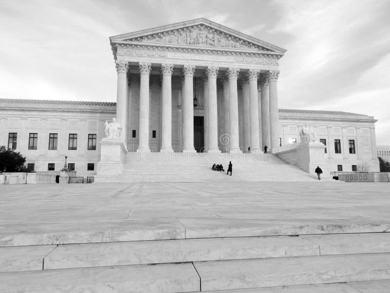 Tribunal Supremo en la puesta del sol foto de archivo libre de regalías