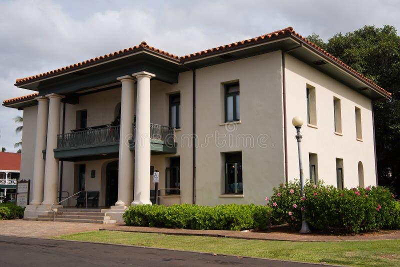 Tribunal viejo de Lahaina imágenes de archivo libres de regalías