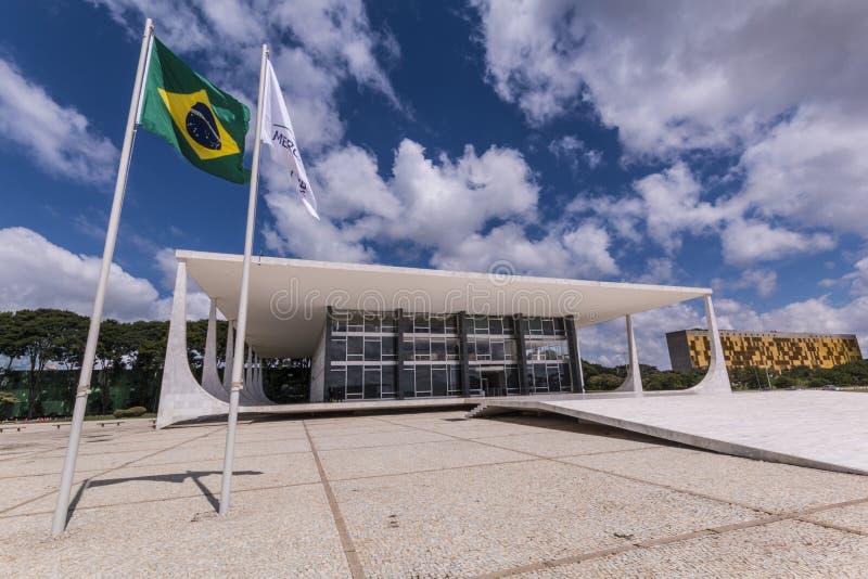 Tribunale - Brasília - DF federale - Brasile di Supremo fotografia stock libera da diritti