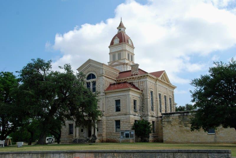 Tribunale della contea di Bandera, Bandera, il Texas, U.S.A. immagini stock libere da diritti