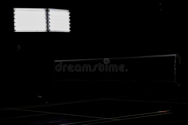 tribunale di badminton per torneo professionale fotografia stock libera da diritti