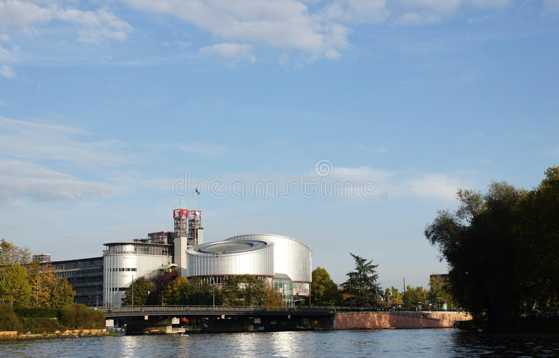 Tribunale europeo di Strasburgo immagine stock