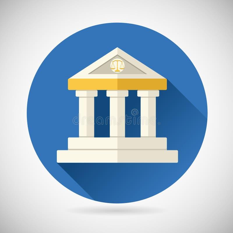 Tribunale, giustizia di simbolo della Camera della Banca del museo, illustrazione di stock
