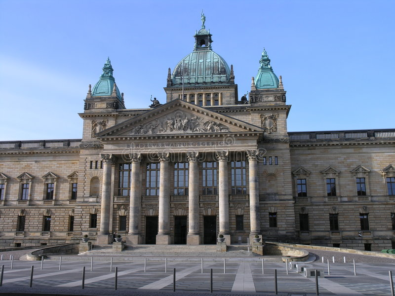 Tribunale Leipzig immagine stock libera da diritti
