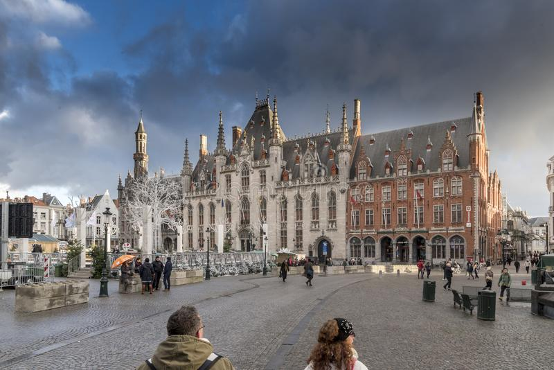 Tribunale provinciale Bruges fotografia stock libera da diritti