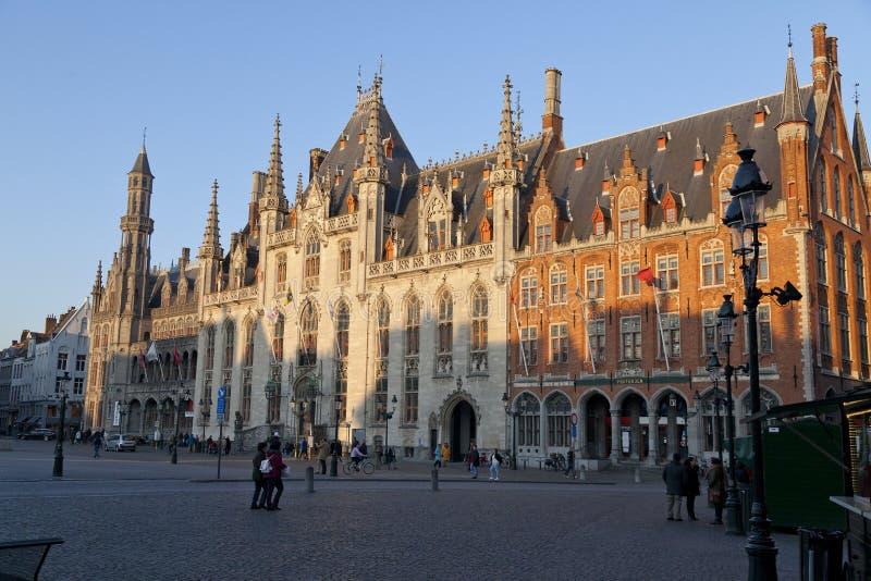 Tribunale provinciale del mercato di Bruges immagine stock