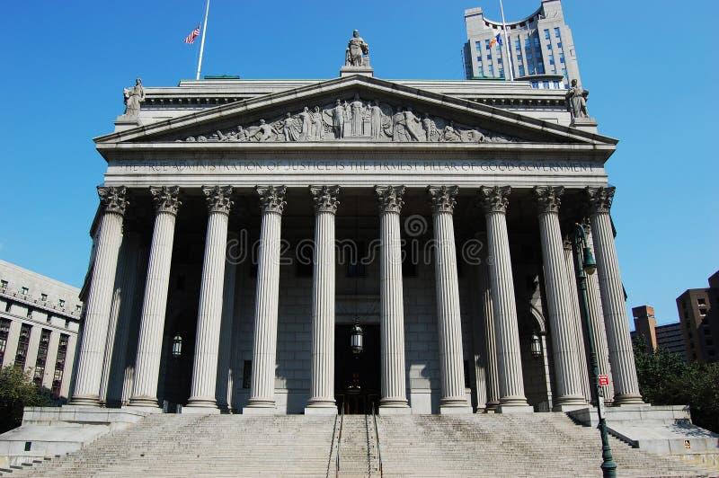Tribunale supremo dello Stato di New York fotografia stock libera da diritti