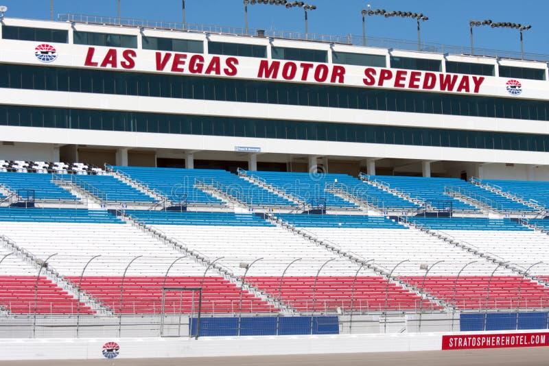 Tribune de speed-way de Las Vegas photographie stock libre de droits