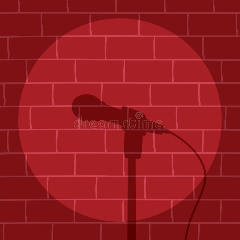 Tribune op Komedie royalty-vrije illustratie