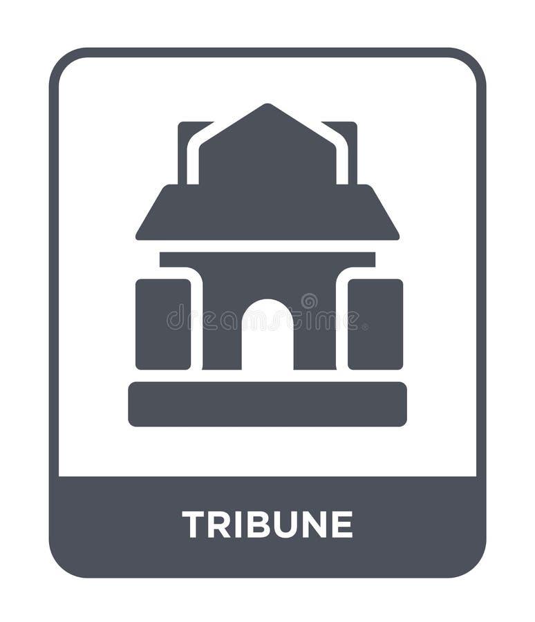 tribunepictogram in in ontwerpstijl tribunepictogram op witte achtergrond wordt geïsoleerd die eenvoudige en moderne vlakke symbo royalty-vrije illustratie