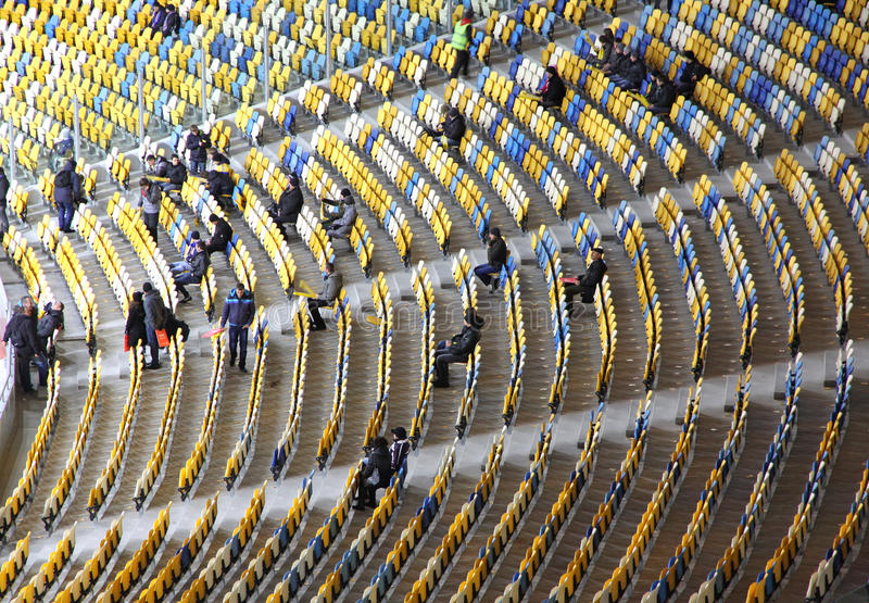 Download Tribunes Of The Olympic Stadium In Kyiv Editorial Stock Image - Image: 23209634