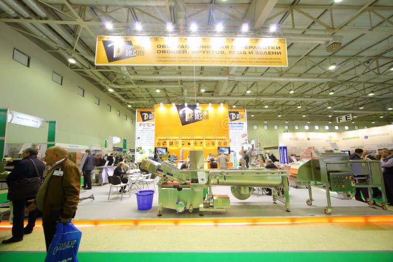 Tribunes van bedrijven in AgroProdMash stock foto's