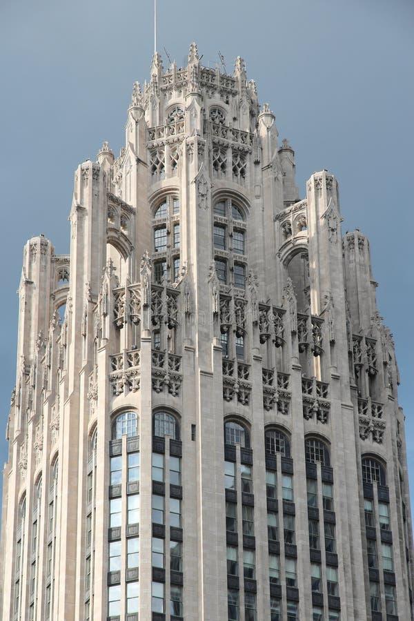 Tribunetoren, Chicago stock afbeelding