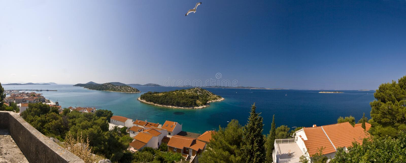 Tribunj panorama stock photos