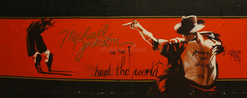Tribut zu Michael Jackson stockbilder