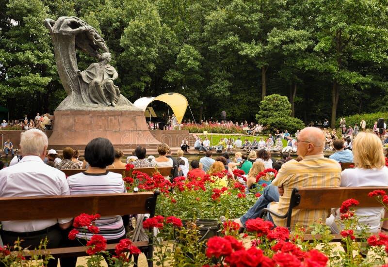 Tribut zum Chopin-geöffneten Konzert, Warschau lizenzfreies stockbild