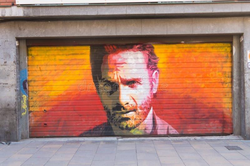 Tribut zum Schauspieler Andrew Lincoln in der Persönlichkeit von Rick Gri lizenzfreie stockbilder